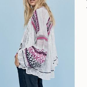 Free People Dreamland Cardigan Open front